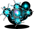 The brain power icon