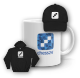 Sweater, hat and coffee-mug merch available from Chess 24